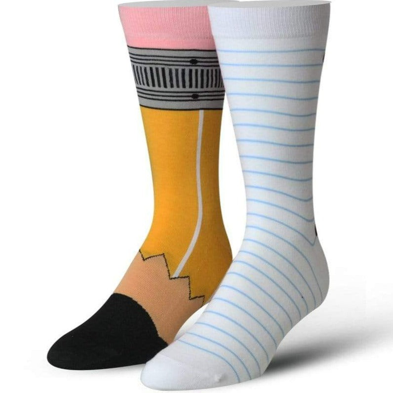 Pencil and Paper Men's Crew Sock White