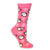 Christmas Penguins Women's Holiday Sock Pink