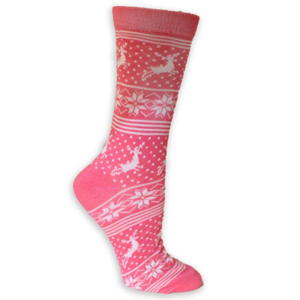 Reindeer Snowflake Women's Holiday Sock