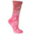 Reindeer Snowflake Women's Holiday Sock Pink
