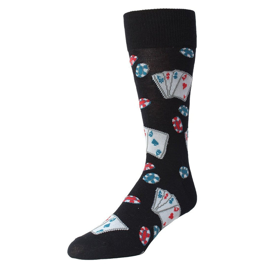 ae4f6a833 POKER FACE PLAYING CARD CREW SOCKS