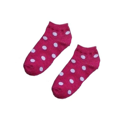 Polka Dot Ankle Socks - Women's Ankle Sock Pink