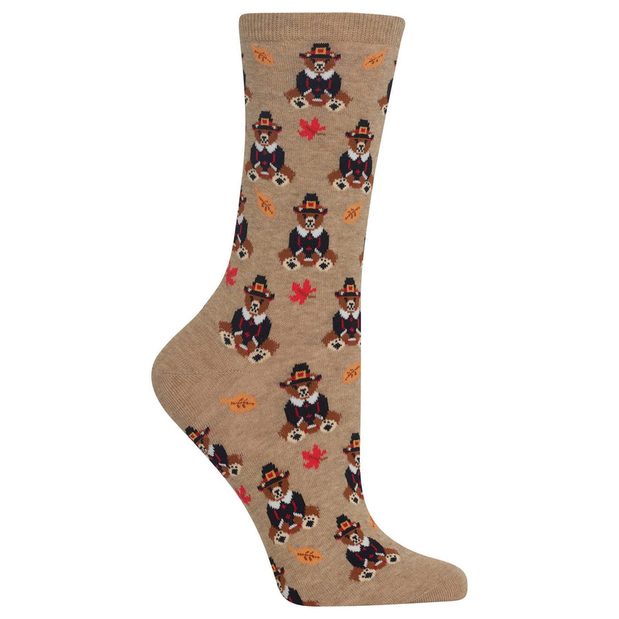 Pilgrim Bears Thanksgiving Socks