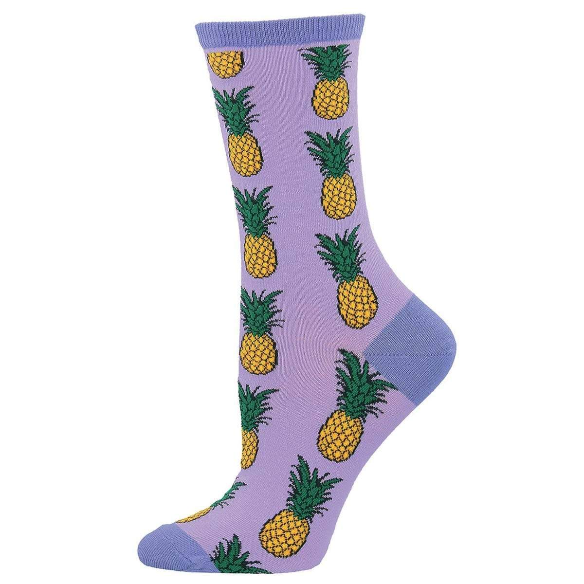 Pineapple Women's Crew Sock Lavender