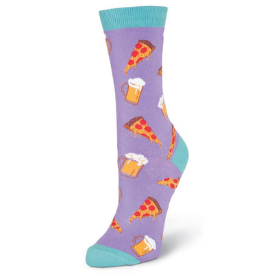 Pizza & Beer Socks - Front