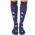 Planets Compression Knee High Socks Blue