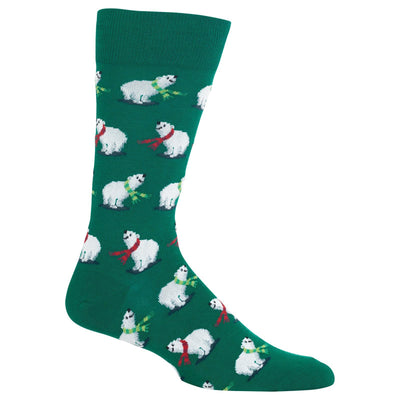 Polar Bear Socks - Green