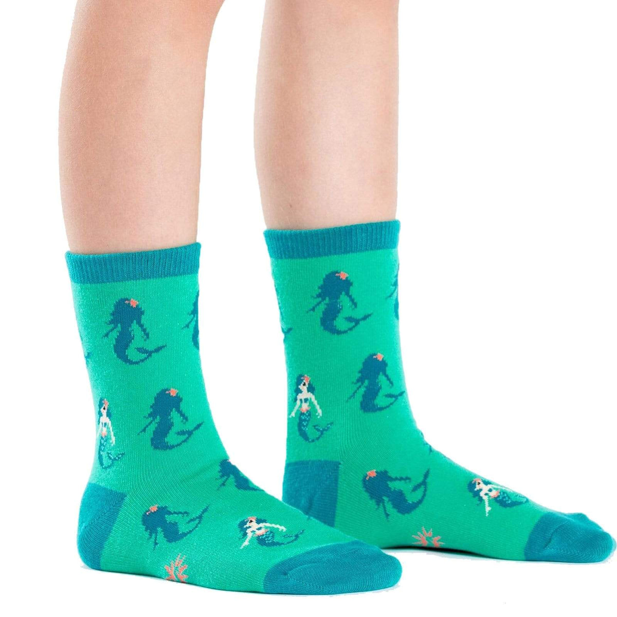 Princess Of The Sea Youth Crew Sock Green