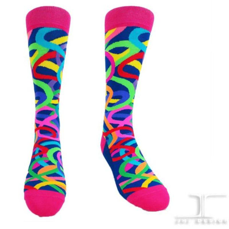 rainbow-crazy-eight-socks-crew-socks-for-women