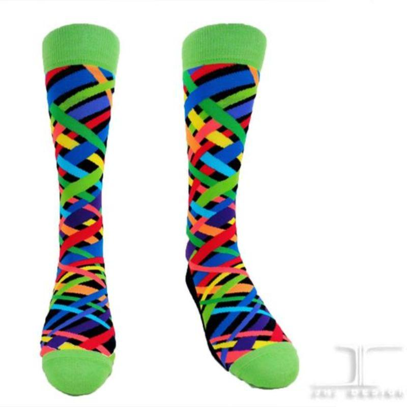 rainbow-criss-cross-socks-crew-socks-for-women