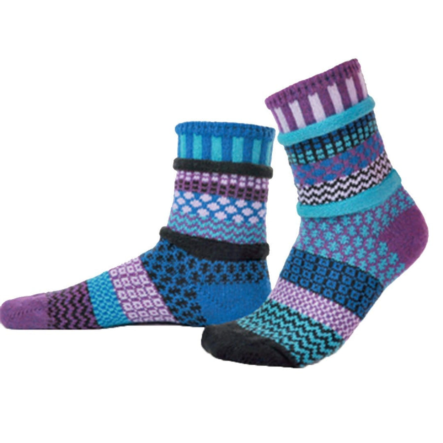 Raspberry Cotton Crew Socks