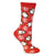 Christmas Penguins Women's Holiday Sock Red