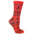 Reindeer Snowflake Women's Holiday Sock Red