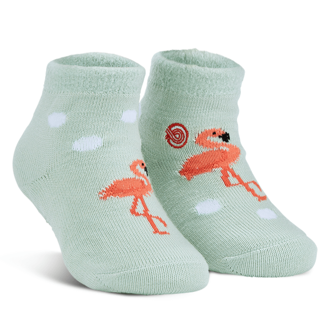Reese's Flamingos Fuzzy Socks Teal / Kiddos