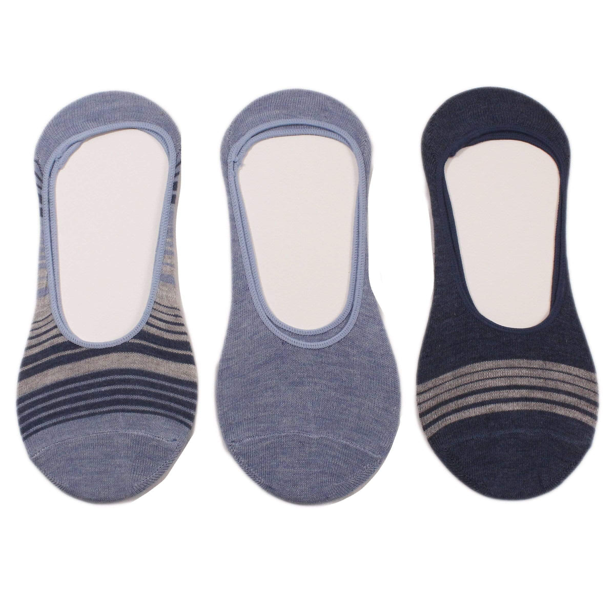 Blue Stripes 3 Pack Liner Socks Blue Stripe