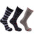 Anchors 3 Pack Crew Socks