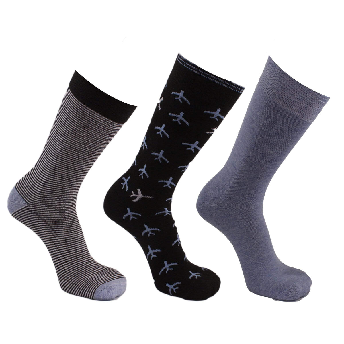 Airplane 3 Pack Crew Socks