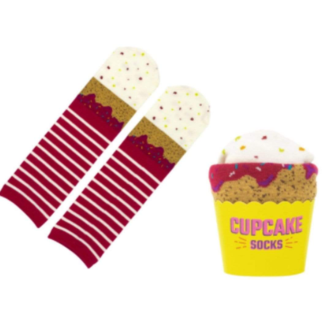 Cupcake Socks Unisex Crew Sock Red Velvet