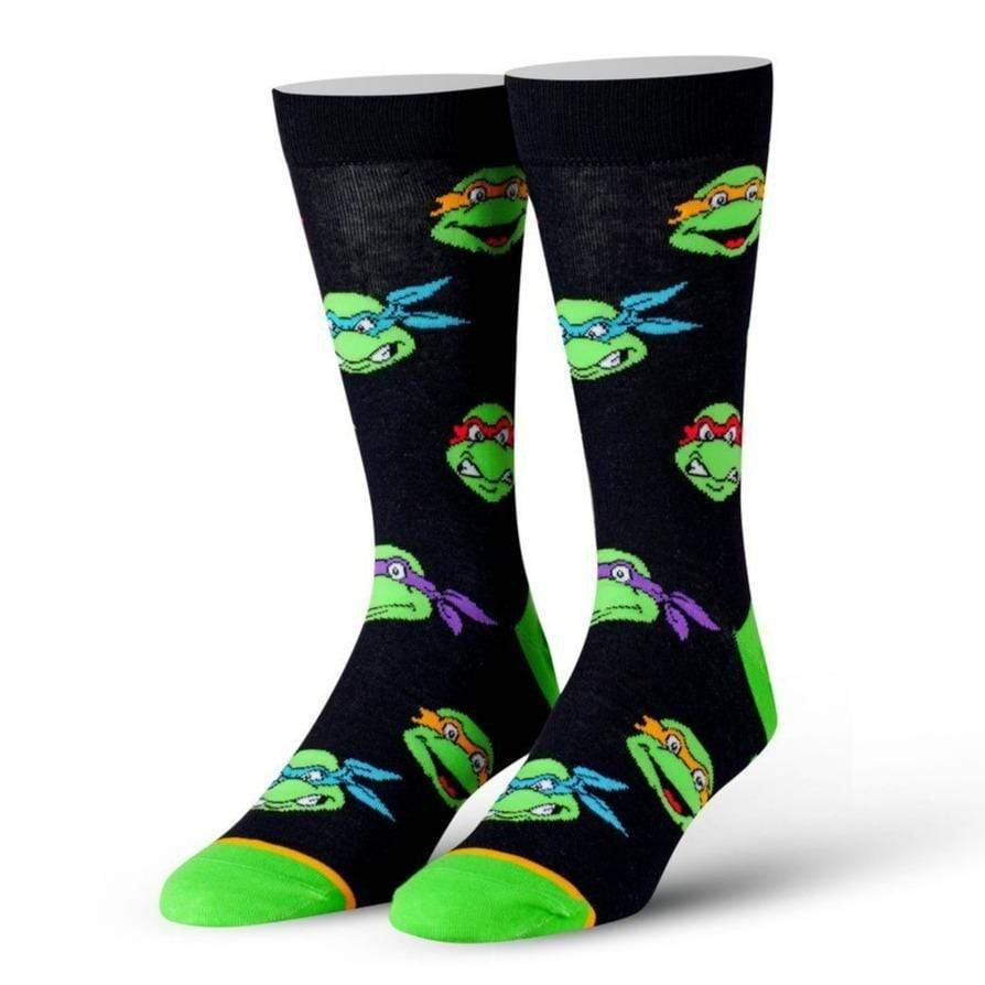 Retro Turtle Heads Men's Crew Sock
