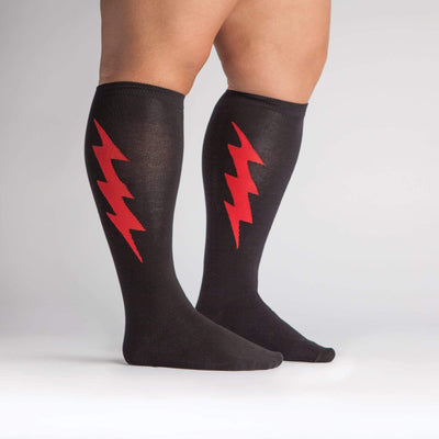 Super Hero Bolt Socks -- Side