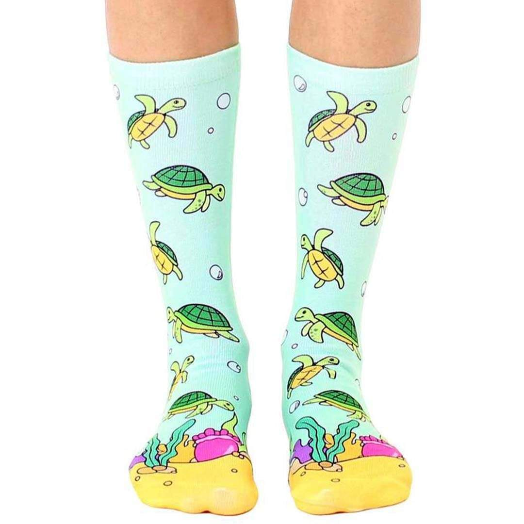 Sea Turtle Crew Sock Green