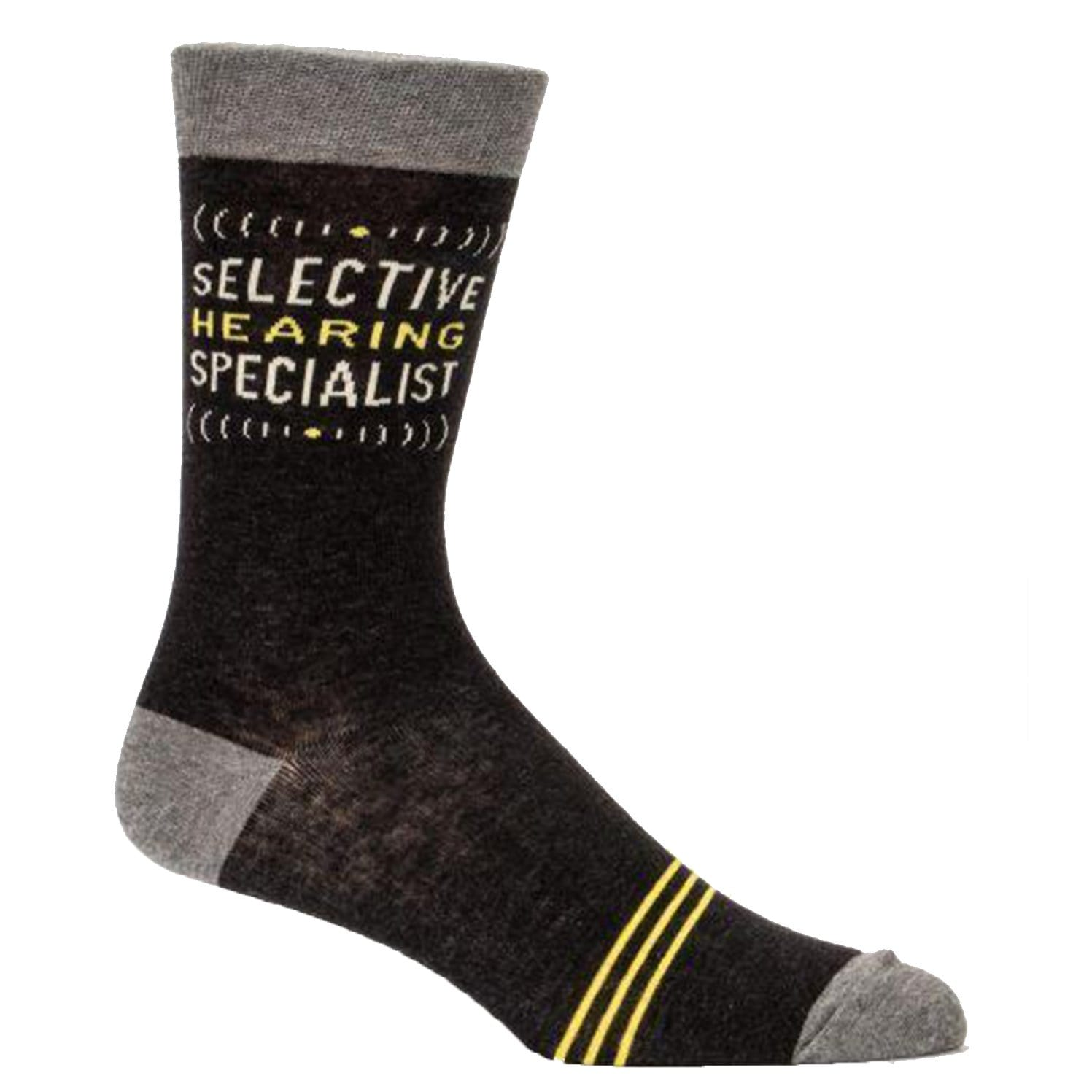 Selective Hearing Specialist Sock Men's Crew Socks black