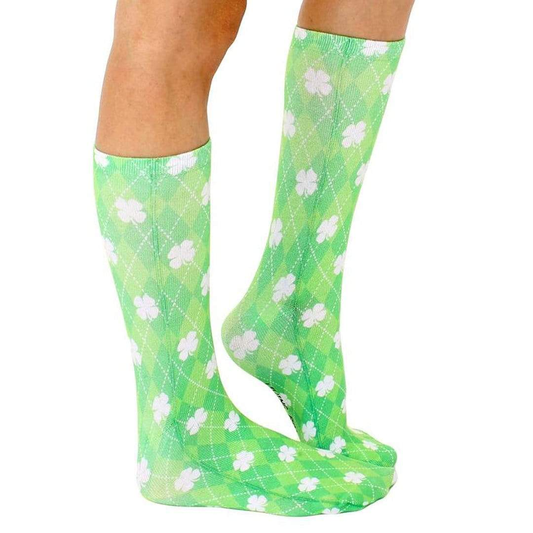 Shamrocks Crew Sock Green Argyle