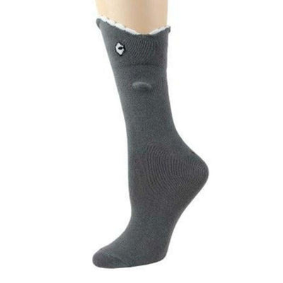 Shark Bite Leg Eater 3D Socks - Crew Socks for Women