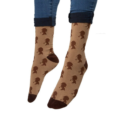 Sherlock Holmes Socks Unisex Crew Sock Men's / brown
