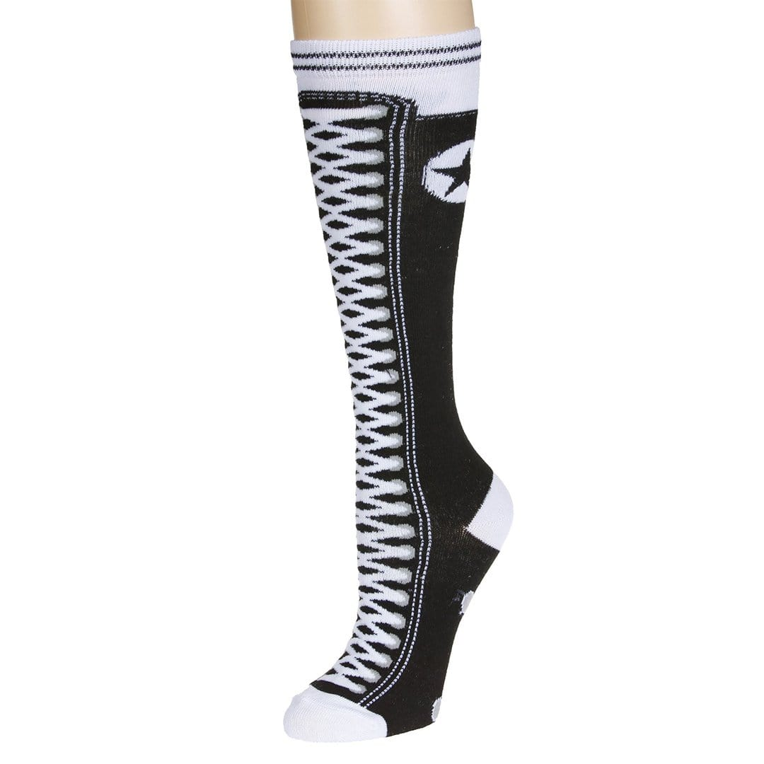 Sneaker Socks Women's Knee High Sock Black
