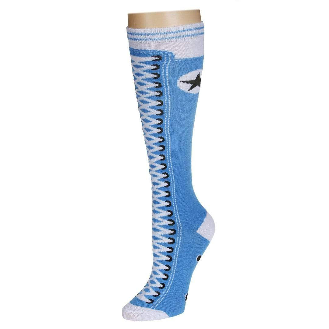 Sneaker Socks Women's Knee High Sock Blue