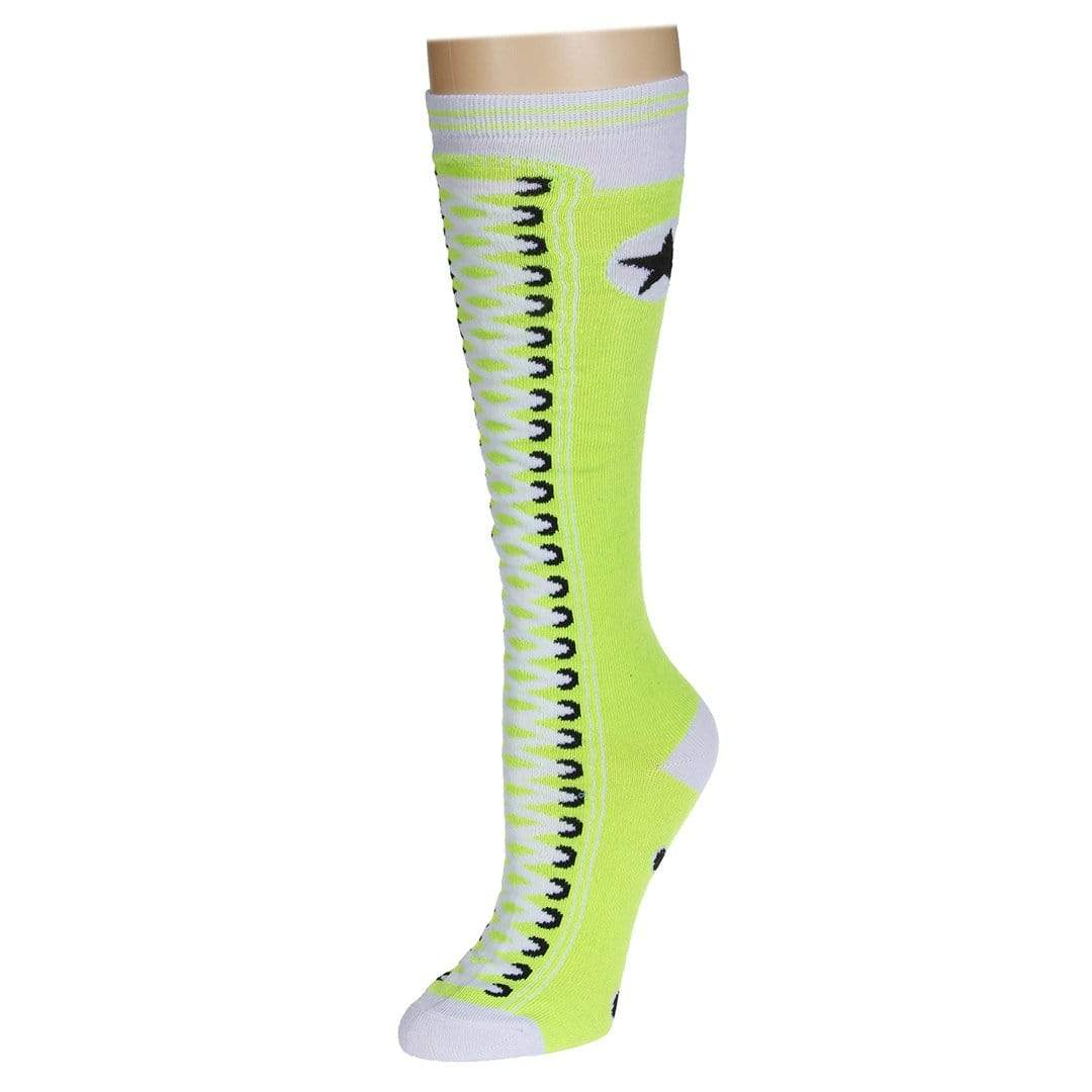 Sneaker Socks Women's Knee High Sock Green