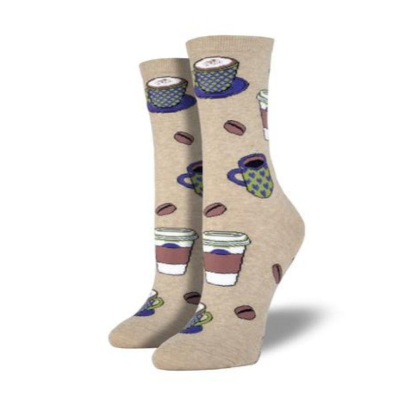 Love You a Latte Socks Women's Crew Sock Hemp