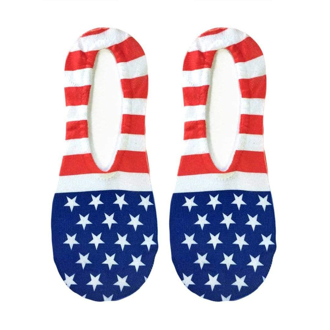 Stars and Stripes Liner Socks No Show Sock