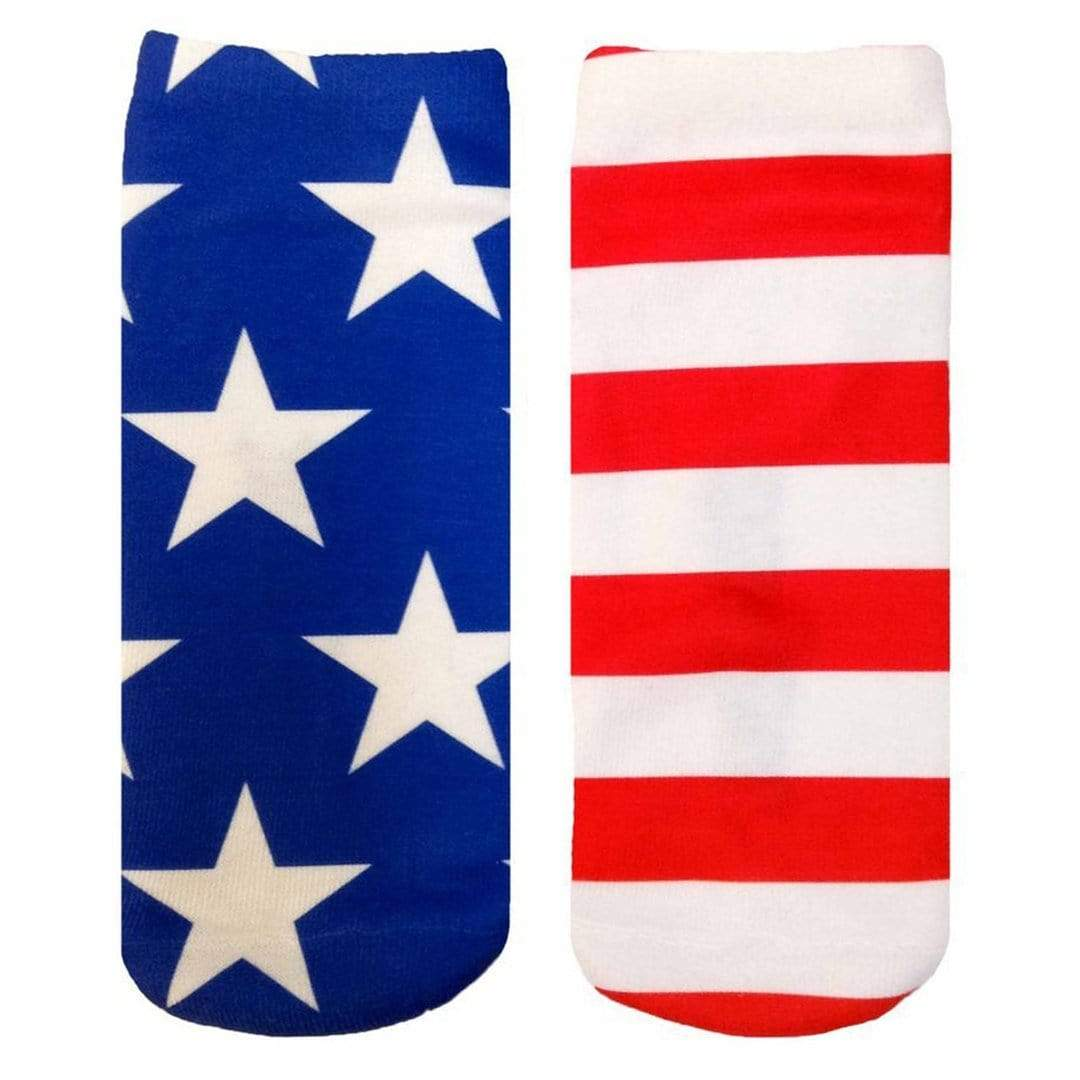 Stars and Stripes Socks Ankle Sock Red
