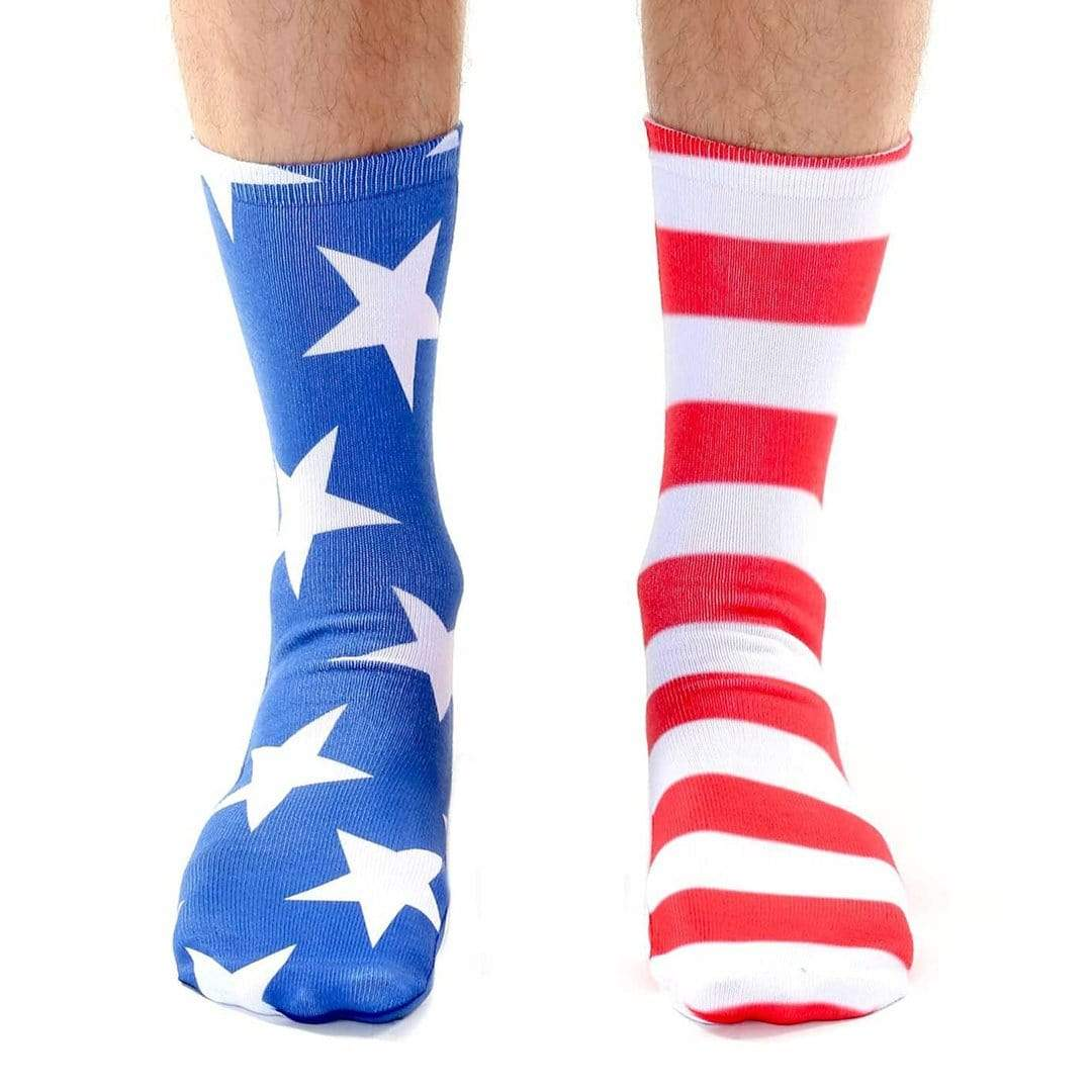 Stars and Stripes Socks -  Unisex Crew Sock