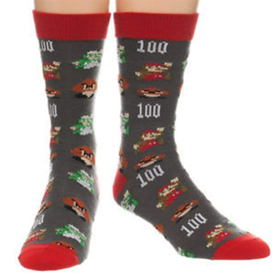Nintendo Super Mario All Over Print - Crew Socks for Men