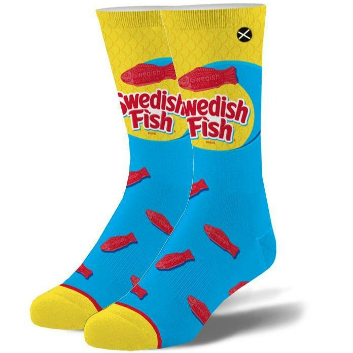 Swedish Fish Men's Crew Sock Blue