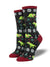 Santasaurus Rex Socks  Women's Crew Sock Black