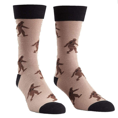 Sasquatch Socks Men's Crew Sock Brown