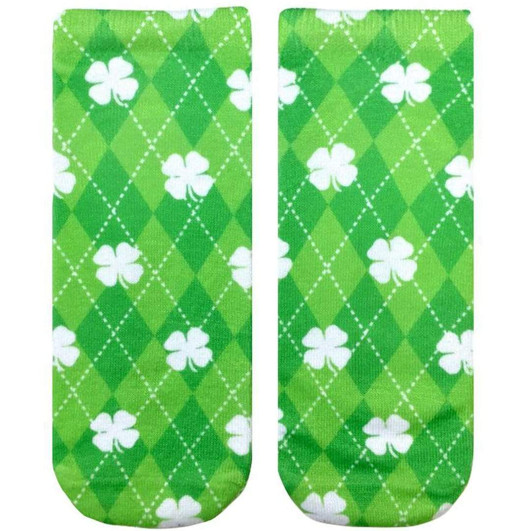 Shamrock Ankle Sock Green Argyle