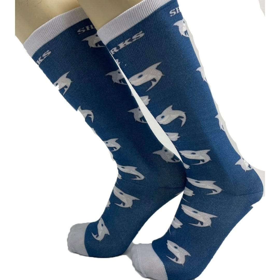 Shark Socks Unisex Knee High Sock One Size Fits Most / Navy