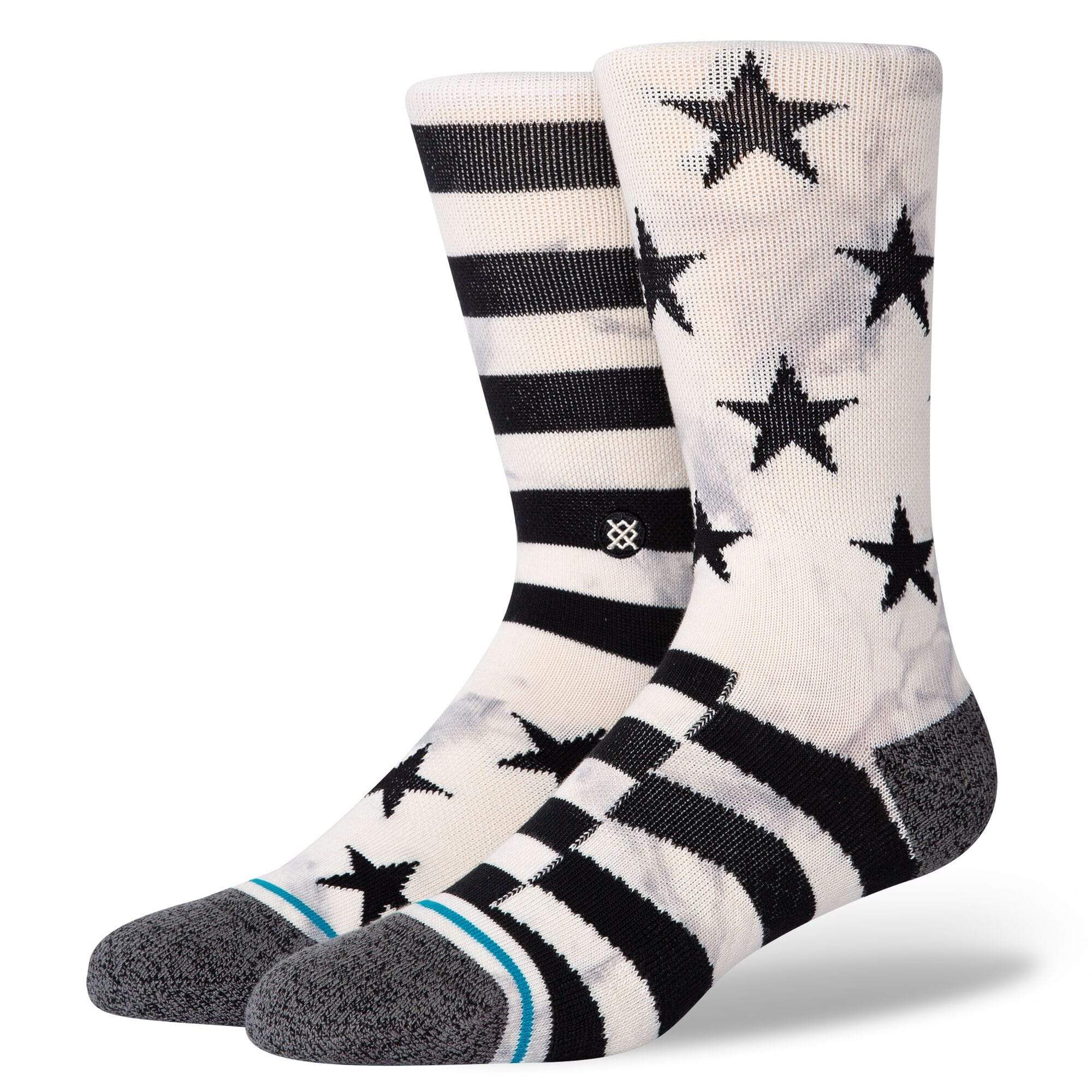 Sidereal 2 Men's Crew Sock Muted stars and Stripes