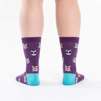 Smarty Cats Crew Socks - Women4