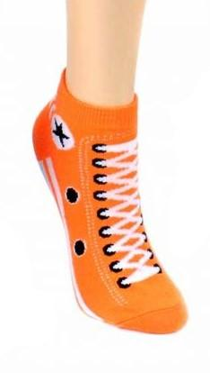 Sneaker Style Socks Women's Ankle Socks Orange