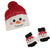 Snowman Kid's Hat & Gloves Set Red