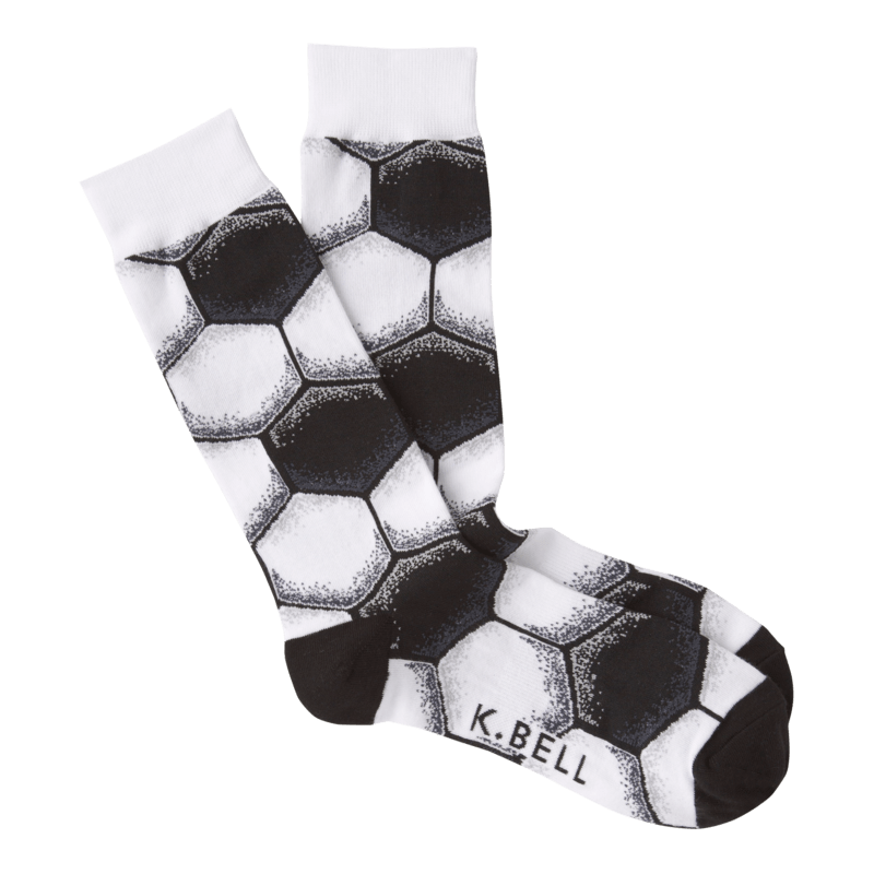 Soccer Ball Socks Men's Crew Sock White