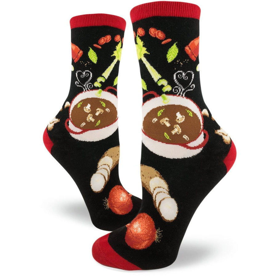 Soup's On Socks - Crew Socks for Women