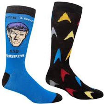 Star Trek Spock Socks 2 Pack blue