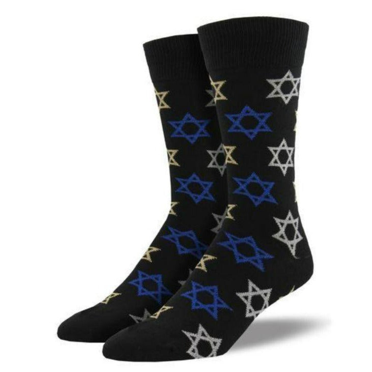 Star of David Socks Men's Crew Sock black